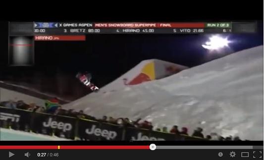 ソチオリンピック 平野歩夢 スノーボード・ハーフパイプ 銀メダル 動画.jpg